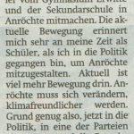 Klima Streik SPD